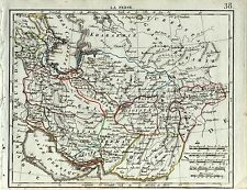 mappa Persia Iran Teheran Ispahan Schiras Kerman Herat Zarang Herisson 1809