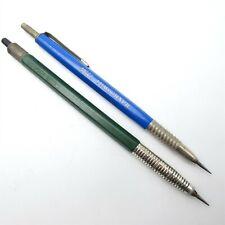 Lot of (2) Vtg Lead Holder Drafting Pencils Lumograph Staedtler & Faber Castel