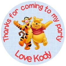 Winnie The Pooh & Tigro Personalizzato Compleanno Party Bag, dolce cono Adesivi