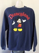 Vtg 90s Disneyland Mickey Mouse Sweatshirt Blue XL Crewneck