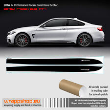 BMW M Performance Side Stripes decals Set for M4 F82 / F83