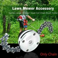New 1 Pair Coil 65Mn Chain Brushcutter Garden Grass For Lawn Mower Trimmer Head