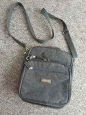 Unisex Cross Body Brown Travel Bag with Multiple Pockets Zips Bumbag