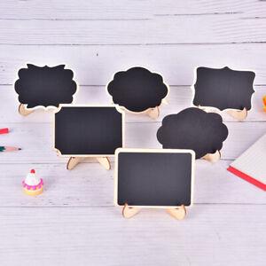 6Style Mini Wooden Whiteboard Message Chalkboard Small Notice Blackboard Sta^BI