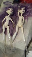 2 Monster High Doll Spectra Dot Dead Gorgeous Nude Ooak Re-dress