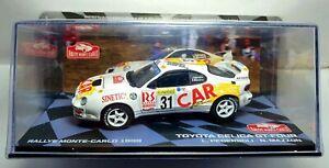 TOYOTA CELICA GT-FOUR #31 L. PEDERSOLI - N. MAZZON RALLY MONTE CARLO 1999 1/43