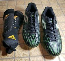 New listing Lotto Soccer Cleats Size 10.5 Mens Green Black Adidas Predator Lg Shin Guards
