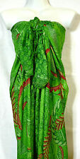 Paréo Drap de Plage Bain Mer Sarong Beach Cover Up Wrap Skirt vert green