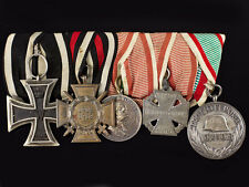 WWI Iron Cross Austrian 5 Group of Medals