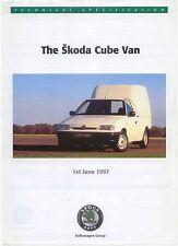SKODA Felicia cubo Van 1.3 MPi 1.9 D 1997 ORIGINALE UK specifica opuscolo