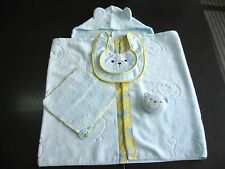 Baby Bear Japanese Towel Set (Antimicrobial&Deodorant Hood, Towelchief, Bib&Toy)