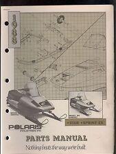 1988 POLARIS STAR / SPRINT ES SNOWMOBILE PARTS MANUAL