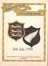 BRITISH LIONS 1930 3rd TEST v NEW ZEALAND RUGBY PROGRAMME