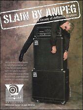 Jack Casady (Jefferson Airplane) Ampeg SVT-II bass guitar amp 8 x 11 ad print