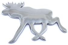 Auto Aufkleber, 3D Chrom Elch, Moose, Elk, Älg Emblem, verchromt ca. 100x75mm