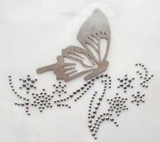 1x Butterfly Diamante Rhinestone Motif Iron On Hotfix Transfer Applique (16)