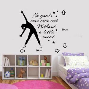 Gymnastic Dance-Girls Inspirational-Bedroom-Quote-Vinyl-Wall-Art-Sticker/Decal