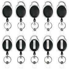 5pcs Badge Reel Pull Keychain Retractable ID Holder Security Card Clip Classic