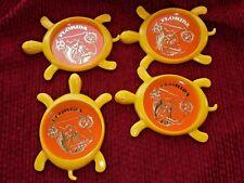 Vintage Plastic Florida Turtle Shaped Coasters Souvenir Set of 4 Decor