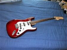 Hondo II Transparent Red Guitar w/Case