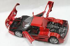 Ferrari F50 rouge échelle 1:18 Bburago Diecast Model Voiture, boîte de fenêtre Entièrement neuf dans sa boîte