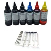 Ink Cartridge Refill Kit For HP 301 and 301xl Black And Colour 30 6 x100ml HQ