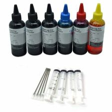 600ml Premium Bulk Refill ink kit for HP cartridges 4 colors Black cyan mag yell