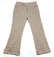 Vintage 70s Jaymar Plaid Bell Bottoms Slacks 36 x 29 No Quit Knit Golf Pants