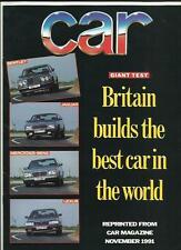 ROAD TEST/COMPARISON BENTLEY, LEXUS,JAG., MERCEDES BENZ CAR 'BROCHURE' NOV. 1991