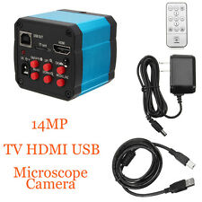 14MP TV HDMI USB Industry C-mount Microscope Digital Camera TF Video Recoder DVR