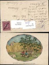 375958,M. Munk Vienne 1144 Künstler Mela Koehler Unterm Holunderbusch Hasen verm