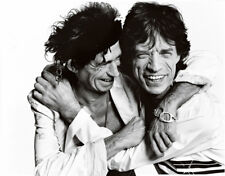 Keith Richards and Mick Jagger UNSIGNED photograph - L8806 - The Rolling Stones