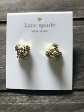 Kate Spade New York Pave Puppy Dog Stud Earrings Gold Tone