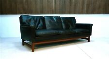Danish Three-Seater TEAK LEATHER SOFA Vintage Design Ledersofa 1960er | 1960s