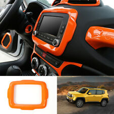 Fit For jeep Renegade 2015-2017 ABS orange console Navigation panel frame trim