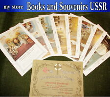 1914 set of posters Orthodox Church (Seven sacraments) 38x27 cm.reprint 1991