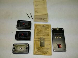 vintage American Flyer S scale 4-pack sale manual uncoupler in pouch, 3 controls