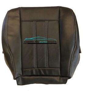 2008-2013 Chrysler Town & Country Touring Driver Bottom Leather Seat Cover Black