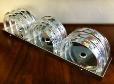 CHROME LUCITE ACRYLIC ARCH WALL LIGHT FIXTURE SCONCE LAMP HOLLYWOOD REGENCY MCM
