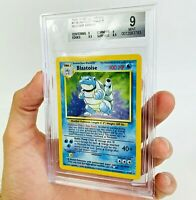 BGS 9  RED DOT ERROR MISPRINT Blastoise Holo 2/102 Base Set Pokemon Card Beckett