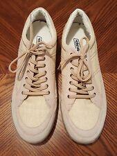 Men's UP URBAN PIPELINE Khaki Suede/Canvas Lace Up Flat Casual Shoes Size 12