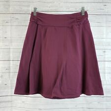 Athleta Womens A-Line Pull On Skirt Sz Small Burgundy