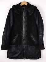 Abercrombie & Fitch Damen Freizeit Mantel Erbsen Mantel Jacke Größe L ATZ112