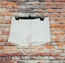 Alice + Olivia $188 Women White Caddy Cuff Summer Casual Cotton Stretch Shorts