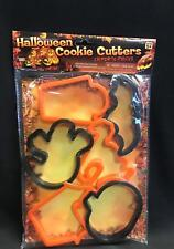 6 pc Halloween Cookie Cutters Ghost Cat Bat Pumpkin Tombstone House Baking Forum