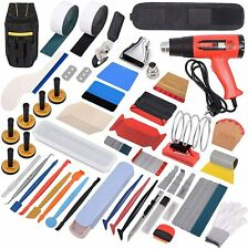 PRO Vinyl Squeegee Felt Kit Car Wrap Application Tools Window Tint Heat Gun Set