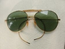 Vintage Awesome Unbranded Old Green Lens Aviator Sunglasses Cool Eyeglass