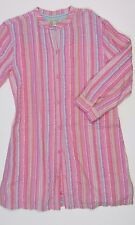 NEW FAT FACE pink striped tunic shirt dress 12-13 years cotton long sleeved