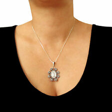 925 Sterling Taxco Silver Lady of Guadalupe Chain Necklace