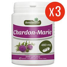 Chardon marie 600 gélules dosées à 480 mg